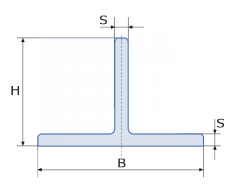 Алюминиевый тавр Б.П. 40х20х2