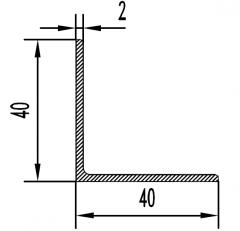 Уголок алюминиевый АН 15 40х120х4