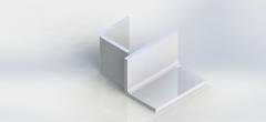 Уголок алюминиевый АН 15 60х150х3,1