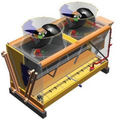 Dry coolers (draykuler), condensers, blocks