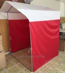 Палатка 1,5х1,5м  труба 16мм красная