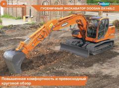 La excavadora Doosan DX140LC de oruga
