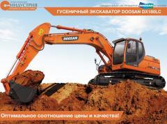 La excavadora Doosan DX180LC de oruga