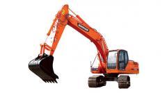 La excavadora Doosan DX220A de oruga