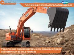 La excavadora Doosan DX225LCA de oruga