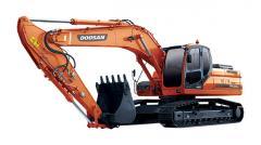La excavadora Doosan DX255LC de oruga