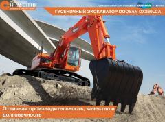 La excavadora Doosan DX260LCA de oruga