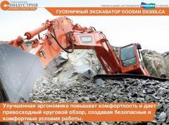 La excavadora Doosan DX300LCA de oruga