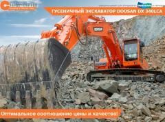 La excavadora Doosan DX340LCA de oruga
