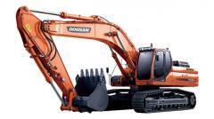 La excavadora Doosan DX420LC de oruga