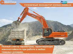 La excavadora Doosan DX520LCA de oruga