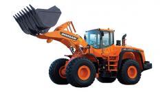 El cargador Doosan DL420 de rueda