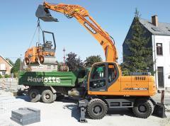 La excavadora Doosan DX190W de rueda