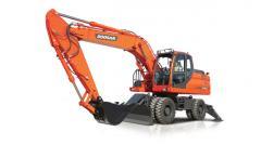 La excavadora Doosan DX190WA de rueda