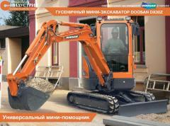 La mini-excavadora Doosan DX30Z