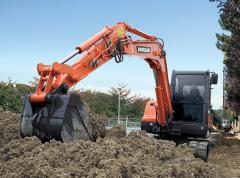 La mini-excavadora Doosan DX55
