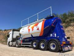 Semi-trailer Guven cement truck