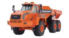 Pivotally - the jointed Doosan DA40 dump truck