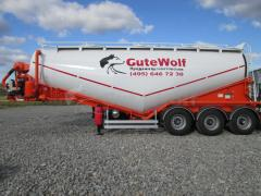 The Guven cement truck, 34 m3, vacuum with system