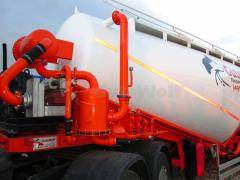 The Guven cement truck, 36 m3, vacuum with system