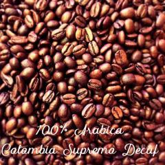 Colombia Supremo 17/18scr без кофеина зерновой кофе