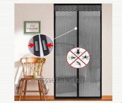 Москитная сетка дверная на магнитах 100 см. х 210