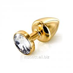 Butt plug a paste of Diogol Anni round gold with