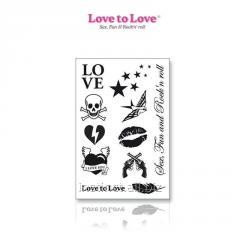 A set of temporary tattoos Love to Love - Rock My