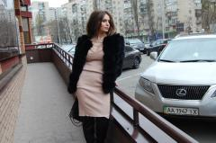 Fur coat from fur of the Finnish polar fox