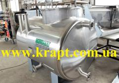 Capacity for foodstuff from stainless steel