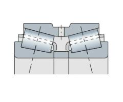 Подшипник конический двухрядный с разъемным внутренним кольцом