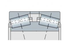 Подшипник конический двухрядный с разъемным внешним кольцом