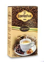 CoffeeFan Caramel coffee of ground 250 g