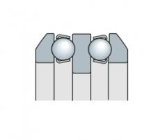 Подшипник шариковый упорный двухрядный со сферическим кольцом