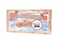 Деревянный конструктор Машина 41 элементов арт. 295