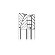 Подшипники роликовые упорные однорядные с раздельными короткими цилиндрическими роликами с подкладным сферическим кольцом, дюймовые