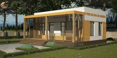 Энергоэффективный дом Старк, 41м²
