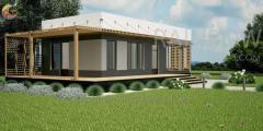 Энергоэффективный дом Гауди,  53м²