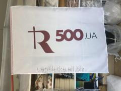 Flag advertizing with a logo of 135х90 cm