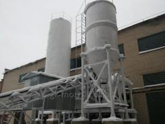 Concrete plant with a productivity of 30 M3/H