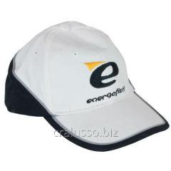 The Energofish baseball cap is white-black