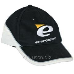 The Energofish baseball cap is black-and-white