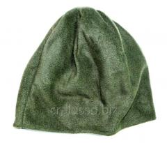 Cap fleece double olive