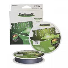 Шнур Carbon X Zander 0,10mm (270M) 8,4кг серый