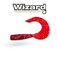 Силиконовая приманка Wizard TRIPLE Tail Grub 3,5см Red Silver 10шт/уп