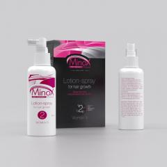 MinoX 2 hair lotion-spray (Minoksidin of 2%). A