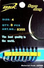 Крючок BKK Сarp 8355 № 4, 8шт кованный