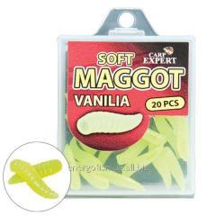 Наживка силиконовая Сarp Expert опарыш Mini Fluo жёлтый (ваниль)
