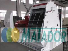 Guillotine hydraulic with a forward stroke of the