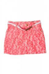 Юбка для девочки с поясом Гипюр Diren, розовый,